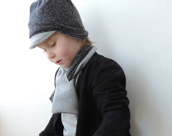 Grey Slouchy Beanie - Hipster Beanies - Reversible Beanies - Kids Trendy Winter Hat - Baby Toddler Kids Adult Beanie - By PetitWild