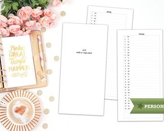 2018 month on 1 page vertical - MO1P - printable planner insert - Filofax personal - printable insert - print at home - personal insert