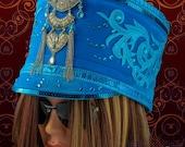 Halloween Headpiece, Halloween Costume, Festival accessory, Burning Man Hat, Marching Band Hat, Women's Costume Headpiece,