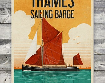 Thames Sailing Barge - Poster (A4 & A2 sizes)
