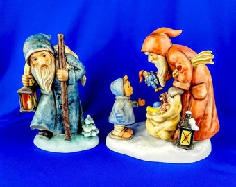 Ruprecht and St.Nicholas Day Hummel Figurines