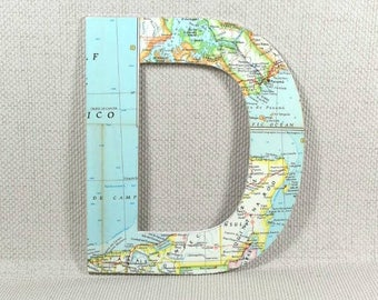 Vintage Map Letters, Wall Letters using Location of your choice. Perfect Map Gift for Mothers Day + Free Gift Wrapping!