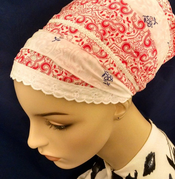 Summery Eyelet cotton sinar tichel, tichels, head scarves, chemo scarves, head wraps, hair snood, mitpachat