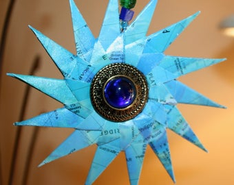 Origami Spiral Ocean Map Paper Hanging Decoration