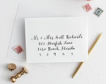 Wedding Envelope Addressing in Calligraphy //bespoke wedding envelope addressing // calligraphy envelope addressing // custom envelopes