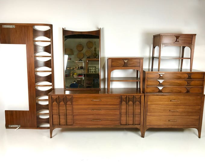 Mid Century Modern KENT COFFEY PERSPECTA 3 Piece Bedroom Set