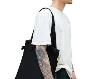 Black Tote Bag, Canvas Tote Bag, Tote Bag With Zipper, Macbook Laptop Tote Bag, Canvas Laptop Bag, Handmade Tote, Vegan Tote, Shoulder Bag