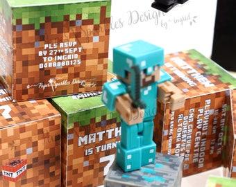 Cube/Box MINECRAFT Invitation