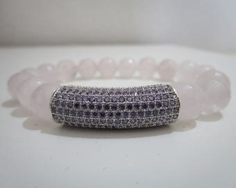 Rose Quartz, Rose Quartz bracelet, bracelets, bracelet for women, natural stones, for women, gifts, gift bracelet gift
