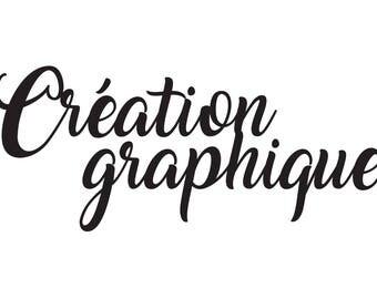 Création graphique personnalisée logo, Atelier Studio 10 crée pour vous, personnalisé texte, Création d'un fichier pour en faire un tampon