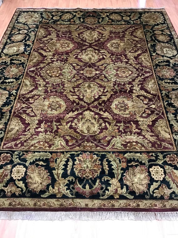 "8'3"" x 10'3"" Indian Agra Oriental Rug - Full Pile - Hand Made - 100% Wool"