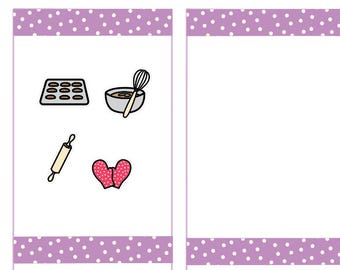 Baking Stickers, Bake Planner Stickers