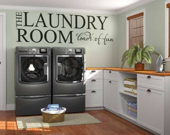 Laundry room decals etsy for Laundry room accessories uk
