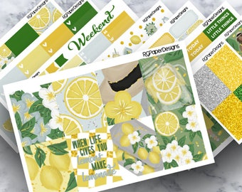 Life Lemons | Weekly Kit | Planner Stickers | ECLP | Classic HP