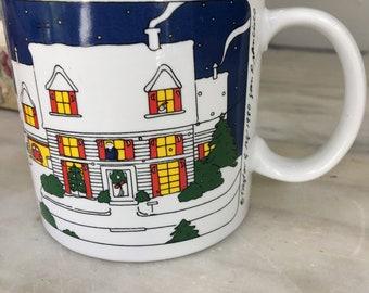 joyous unique coffee mug. vintage Taylor  Ng Joyous No l mug Christmas coffee cup 1980 San Francisco ng Etsy