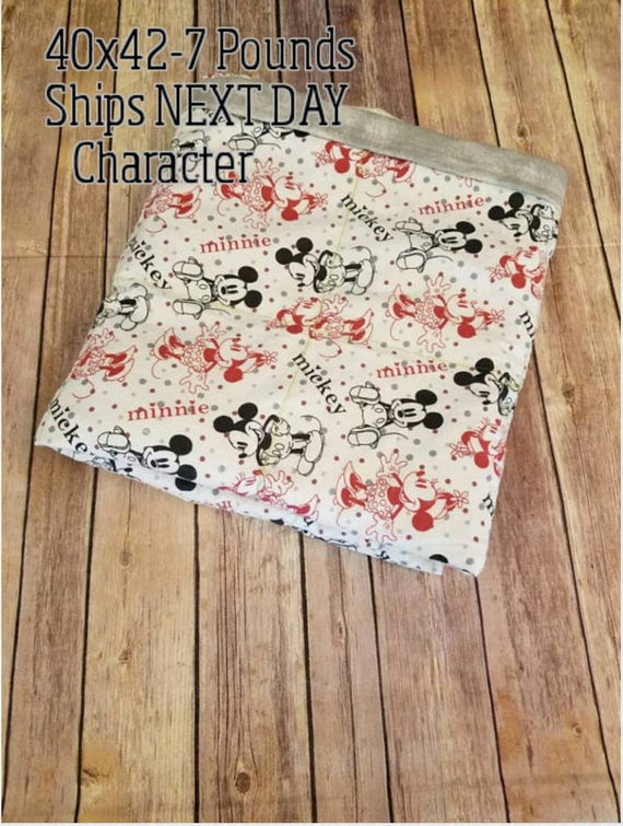 Character, 7 Pound, WEIGHTED BLANKET, Ready To Ship, 7 pounds, 40x42 for Autism, Sensory, Calming