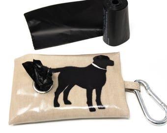 Labrador Poop Bag Holder – Dog Waste Bag – Poop Bag Dispenser – Labrador Owner – Poo Bag Holder – Leash Bag – Dog Bag Dispenser – Dog gift