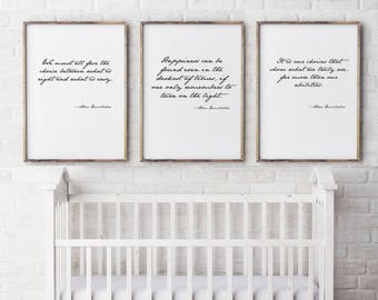 Set of 3 Dumbledore Quote, Printable, Harry Potter Art, Poster,Albus Dumbledore Quote,Harry Potter Quote, Happiness can be found, JK Rowling