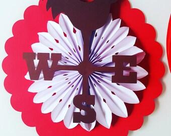 Roundel, weather vane Rooster - decorations-birthday decoration