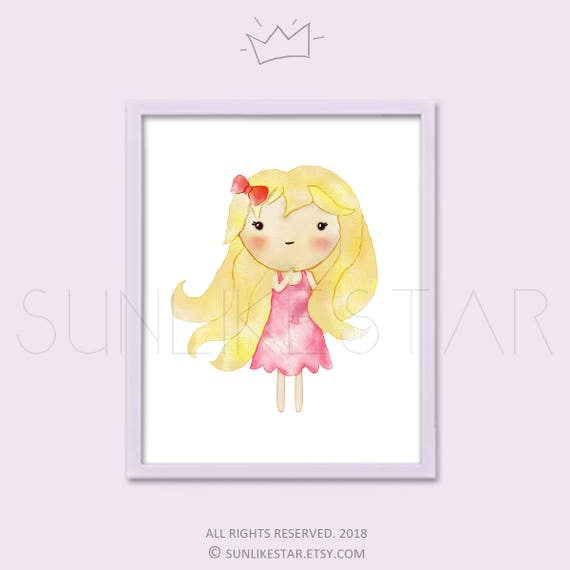Baby Nursery Girl Print, Printable Nursery Wall Art, Nursery Decor ...