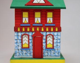 Dollhouse Miniature Handmade Wood NAME Dollhouse for a Dollhouse (1/12 & 1/144 Scales)