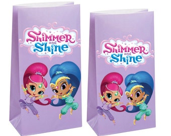 Shimmer and shine Party Favor Bag ~ Shimmer and shine Party Inspired Decorations & Decor
