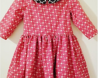 Girls Pepper Dress | Long Sleeved | Baby Dress | Peplum