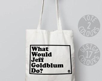 Jeff Goldblum canvas tote bag, reusable tote bag, shoulder bag, eco bag, retro gift for woman, gift ideas for teenage girl, jurassic park