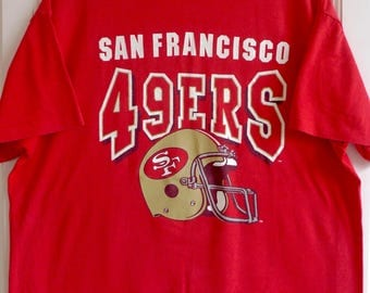 Vintage 1990s NFL San Francisco 49ers 5050 Tee XL Garan Inc Tag Made In USA