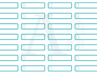 1/4 box (quarter box) plain planner stickers - turquoise