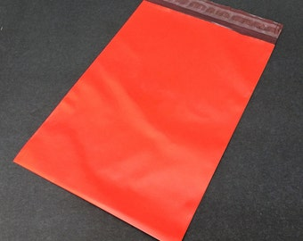 50  7.5 x 10.5 RED Poly Mailers  Self Sealing Envelopes Shipping Bags Christmas Valentine's Day
