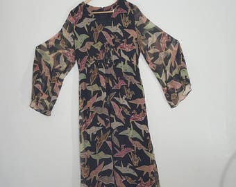 ORIGAMI Organza / Plus Size / Bell Sleeve Dress / Novelty