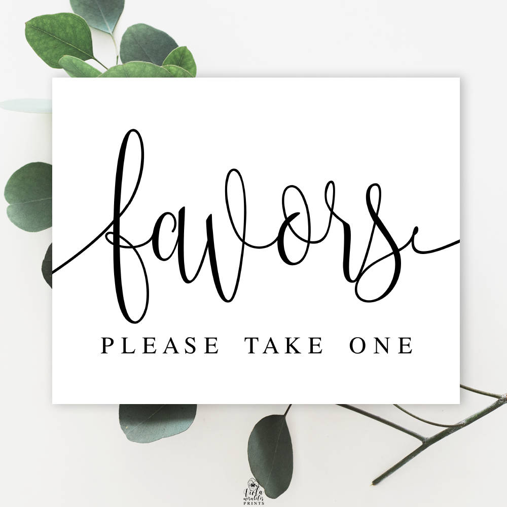 Favors Please take one Fairytale wedding favor sign Elopement ...