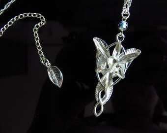 Arwen Evenstar Necklace, Arwen Pendant, Swarovski, Lord of the Rings necklace, Arwen costume, Elves jewellery, gift for her.