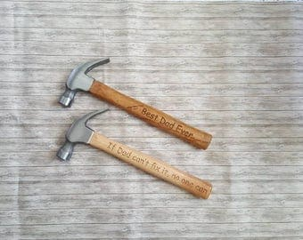 Personalized hammer, Father's Day Gift, Engraved Hammer, Gift for Dad, Claw Hammer, Father's day hammer