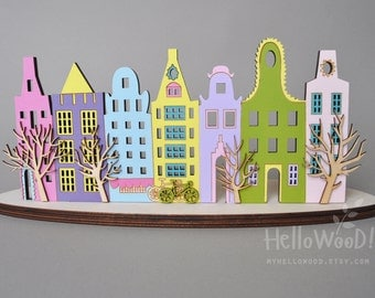 Amsterdam Decoration Wooden Candlestick candle holder