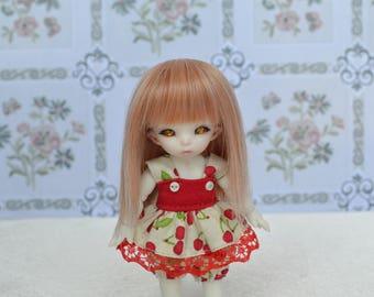Outfit Pico cherry 1/12 pukipuki Bjd & 11cm obitsu.