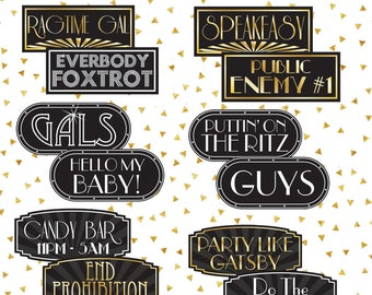 Gatsby Photo Booth Props | Gatsby Props | 1920 Photo Booth Props | Vintage Photo Booth Props