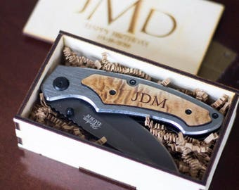 Groomsmen Gift Set, Set of 6 Personalized Pocket Knives Personalized Knife for Groomsmen - Knife Gift Set