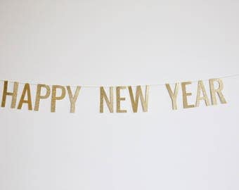 Happy New Year Banner - NYE Banner, NYE Party, New Year's Eve Party