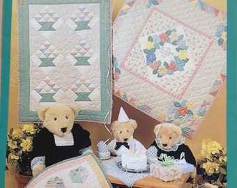 Candy Basket quilt,  Keepsake Wreath quilt, PartyFavors quilt, Little Quilts, pastel quilts, small quilts, Parties quilt collection, vintage