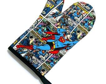 Superman Comic Oven Mitt