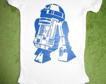 R2D2 Baby Onesie, Baby Shower Gift, Funny Baby Onesie, Star Wars Baby Onesie
