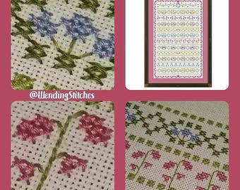 Summer Meadow Band Sampler Specialty and Cross Stitch Emailed PDF Chart