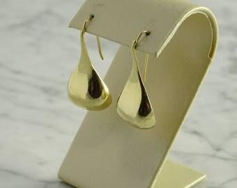 14K Gold Drop Earrings (pierced)