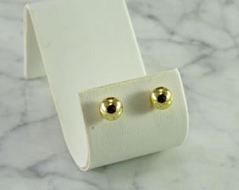 Ball Stud Earrings in 14 KT Gold ( 8 mm)