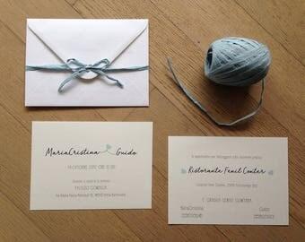 Participation in marriage. Wedding invitation. Custom wedding participation. Wedding invitation. Wedding invitation.