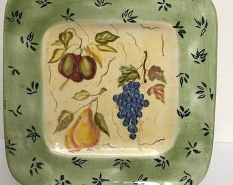 Zrike Square Plate  Replacement Plate or to Decor in a Easel Hand Painted