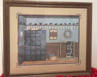 Framed Lithograph Collection CANDLEMAKING Art Work By Pat Pearson Including Certificate Affidavit of Limited Edition no 24/150AP