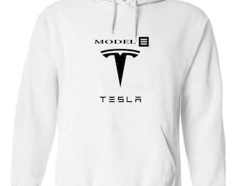 Tesla Model 3 Electric Hoodie (Size: S - 2Xl)
